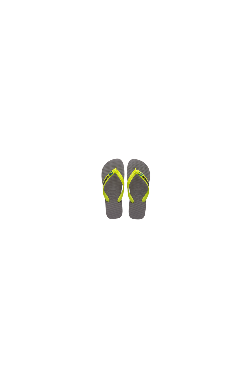 c710ac559ff211 Havaianas Brasil Logo Flip Flops (Grey Lime Green) - Footwear from ...