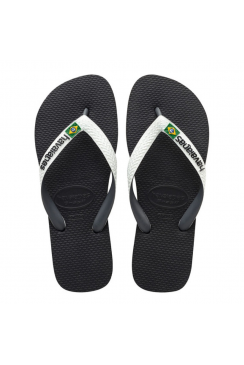 Brasil Mix Flip Flops (Black/White)
