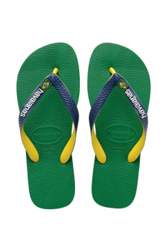 Brasil Mix Flip Flops (Green/Navy Blue)