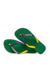 Havaianas Brasil Mix Flip Flops (Green/Navy Blue)