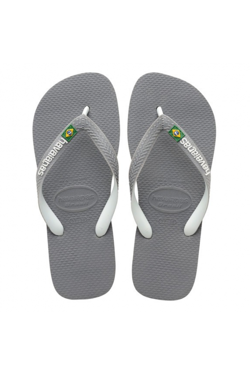 Brasil Mix Flip Flops (Grey/White)