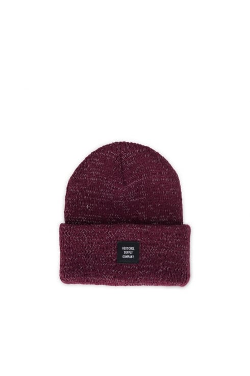 Herschel Supply Co Abbott Reflective Beanie (Windsor Wine Reflective)
