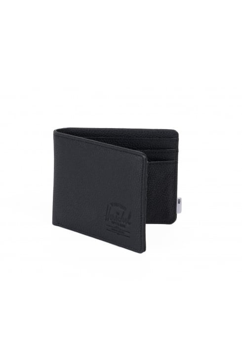 Herschel Supply Co Bluetooth Roy Coin Leather + Tile Slim Wallet (Black Pebbled Leather)