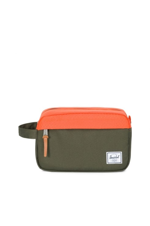Herschel Supply Co Chapter Washbag (Forest Night/Vermilion Orange)