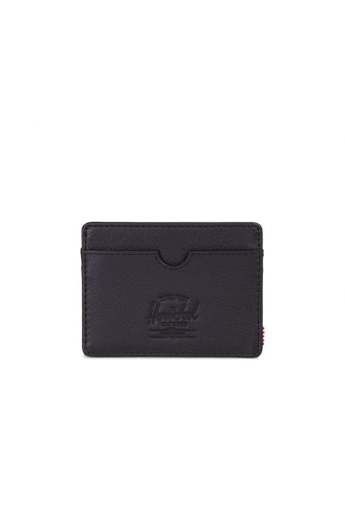 Herschel Supply Co Charlie RFID Wallet (Black Pebbled Leather)