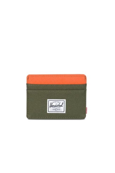 Herschel Supply Co Charlie RFID Wallet (Forest Night/Vermillion Orange)