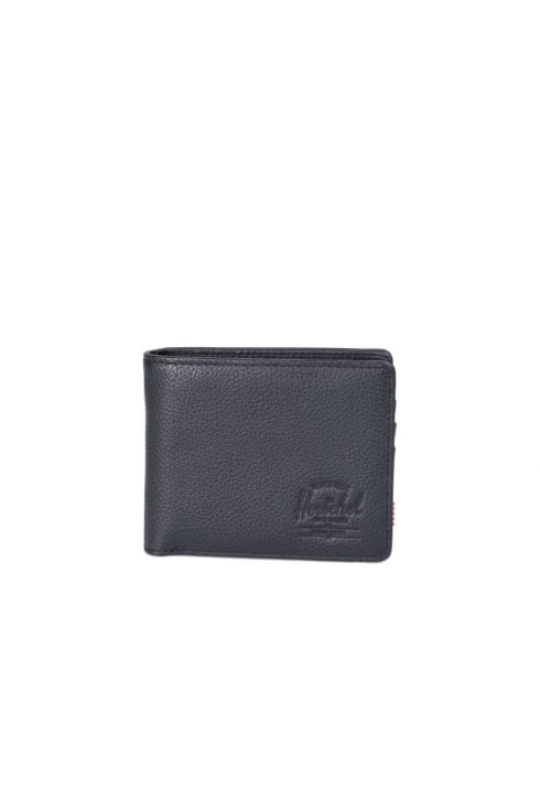 Herschel Supply Co Hank Coin Leather RFID Wallet (Black Pebbled Leather)