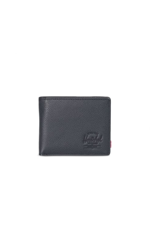 Herschel Supply Co Hank Leather RFID Wallet (Black Pebbled Leather)