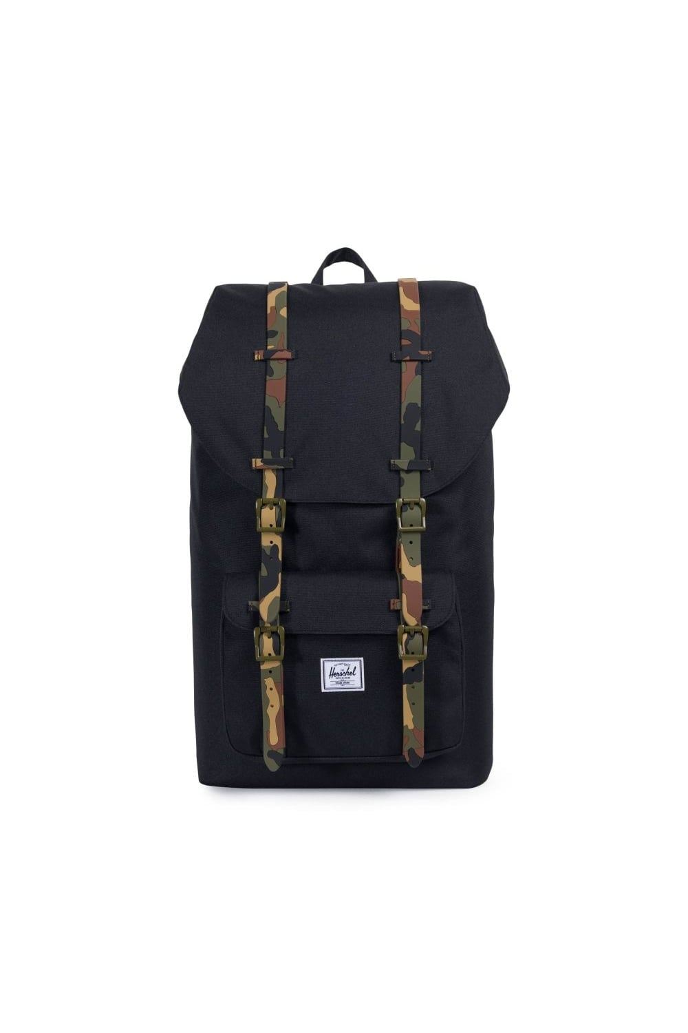 3f36fc52bda Herschel Supply Co. Little America (Black Woodland Camo Rubber ...