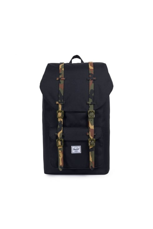 Herschel Supply Co Little America Backpack (Black/Woodland Camo Rubber)