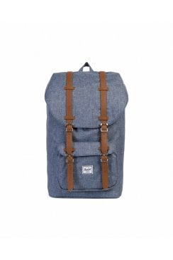 Little America Backpack (Dark Chambray Crosshatch/Tan)