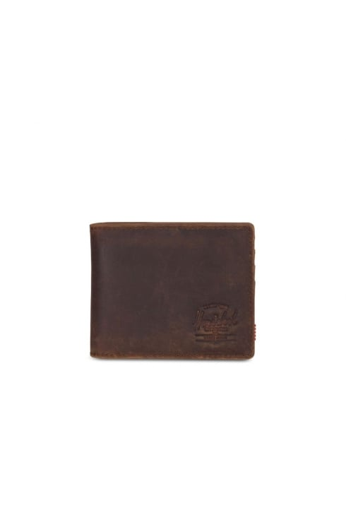 Herschel Supply Co Roy Leather RFID Wallet (Brown)