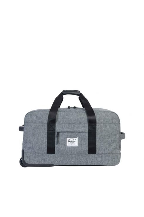 Herschel Supply Co Wheelie Outfitter Luggage Duffle Bag (Raven Crosshatch)