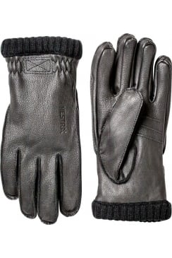 Deerskin Primaloft Rib Gloves (Black)