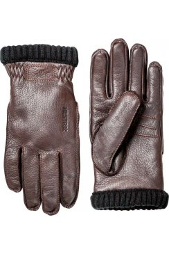 Deerskin Primaloft Rib Gloves (Dark Brown)