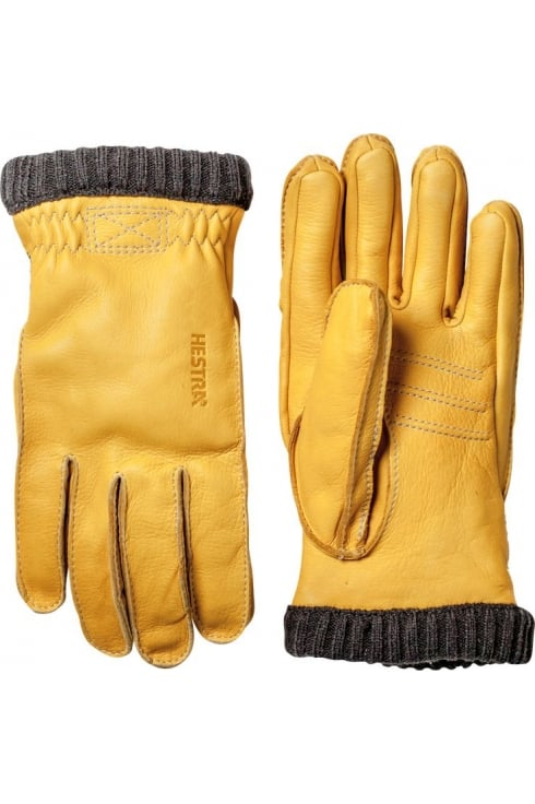 Hestra Gloves Deerskin Primaloft Rib Gloves (Natural Yellow)