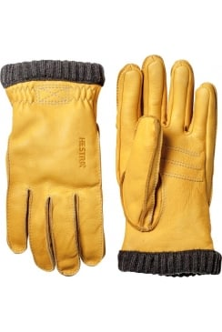 Deerskin Primaloft Rib Gloves (Natural Yellow)