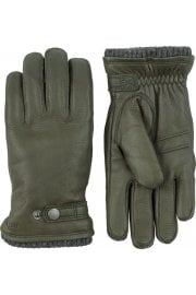 Utsjö Elk Leather Gloves (Dark Forest)