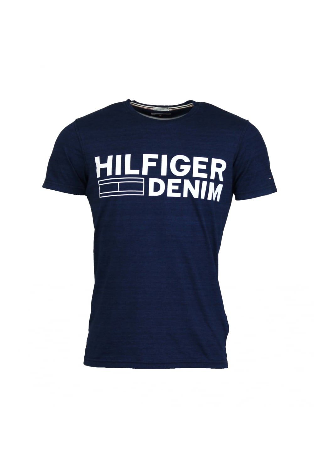 hilfiger denim basic logo t shirt dark indigo thirtysix. Black Bedroom Furniture Sets. Home Design Ideas