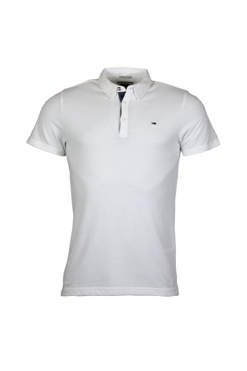 Hilfiger denim button down short sleeved polo shirt for Polo shirts without buttons