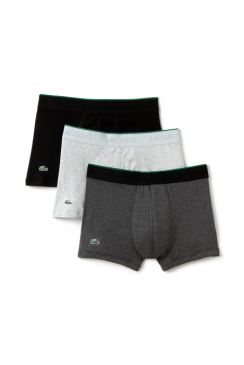 3-Pack Boxer Trunks (Grey/Dark Grey/Black)