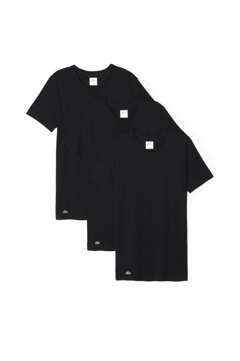 Lacoste Classic 3-Pack Short-Sleeved T-Shirt (Black)