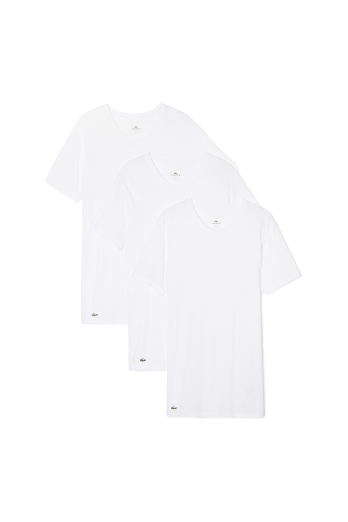9788dc893053 Lacoste Classic 3-Pack Short-Sleeved T-Shirt (White)