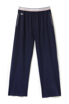 Colour Contrast Waistband Lounge Pants (Navy)