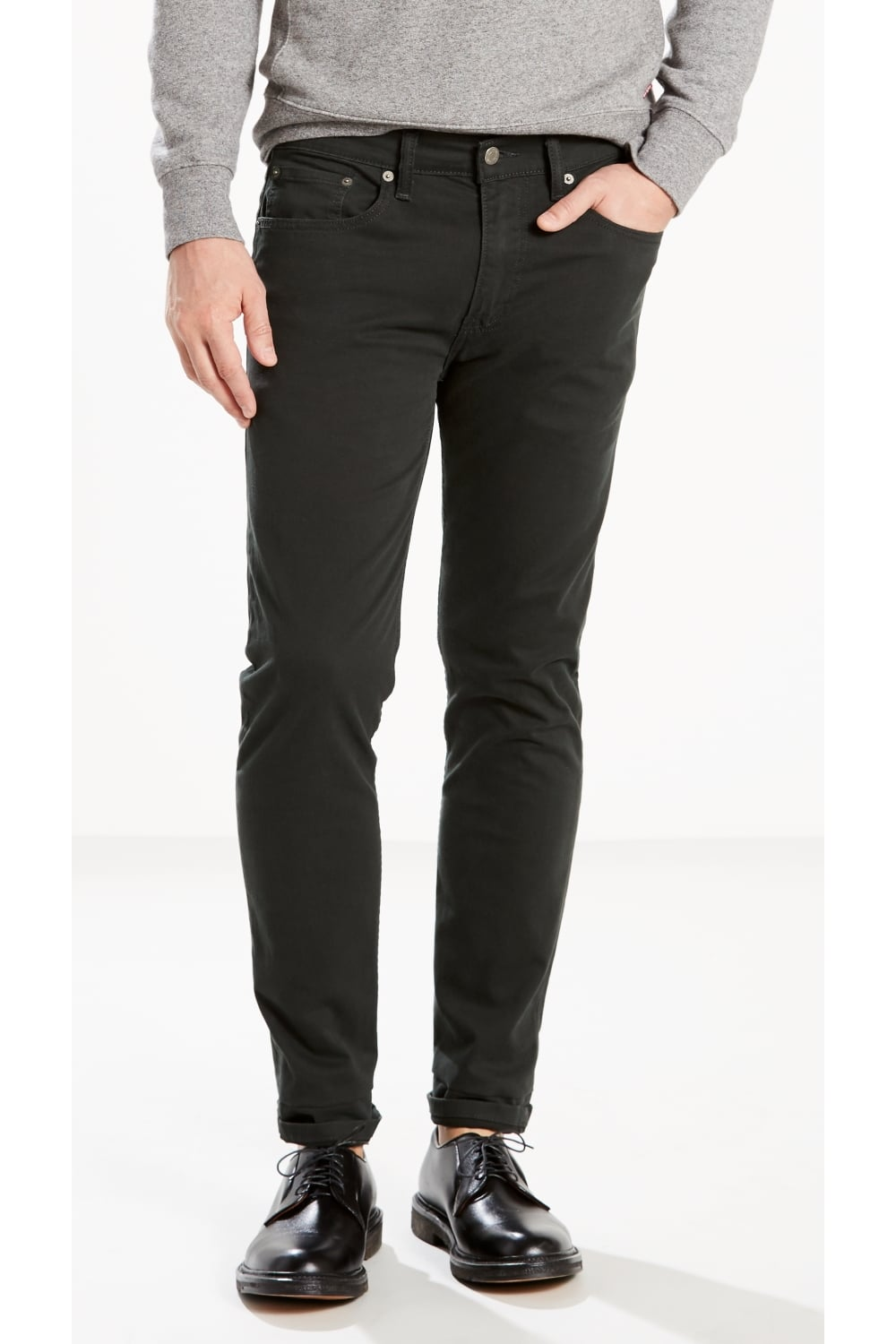 exclusive range performance sportswear selected material Levi's 502 Regular Tapered Chinos (Carbon Indigo Soft Wash)