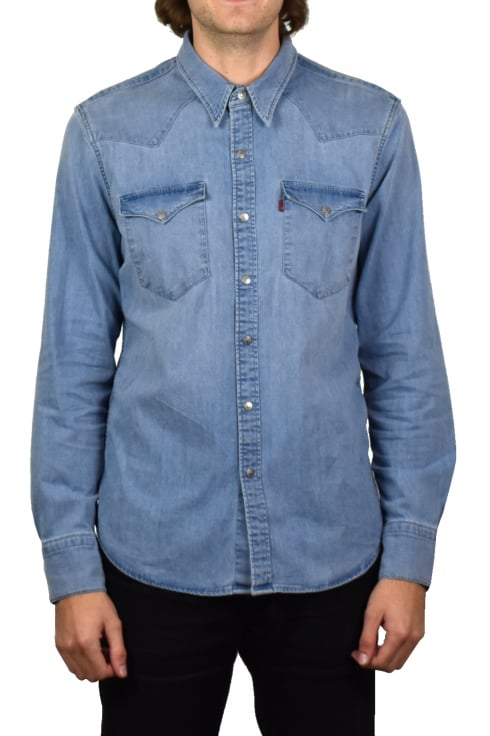 Levi's Barstow Western Denim Long-Sleeved Shirt (Brooklyn Stretch Light)