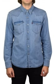Barstow Western Denim Long-Sleeved Shirt (Brooklyn Stretch Light)