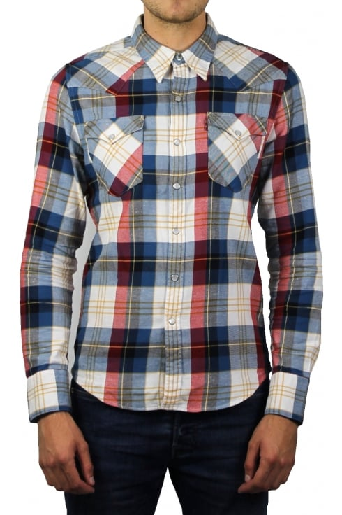 Levi's Barstow Western Long-Sleeved Shirt (Cherry Bomb Plaid)