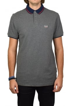 Breaker Logo Sportswear Polo Shirt (Grey)
