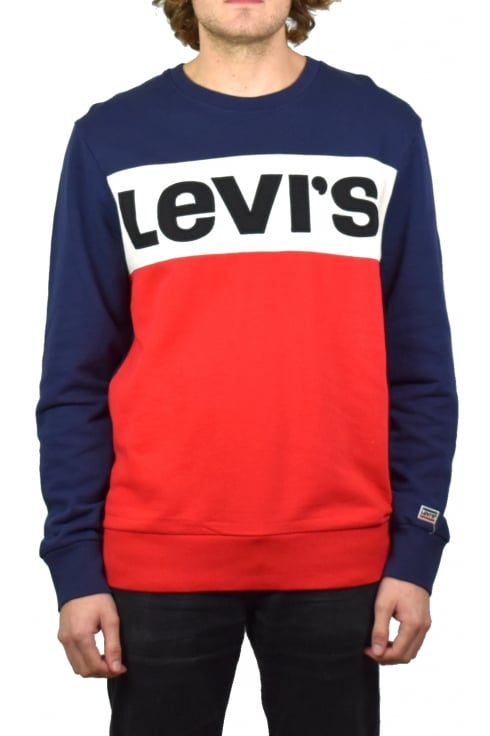 Levi's Colour Block Sweatshirt (Olympic)