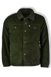 Cord Coach Sherpa Trucker Jacket (Rosin)