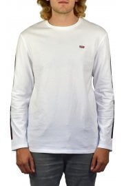 Long-Sleeved 1990s Reissue T-Shirt (White & Dress Blues)