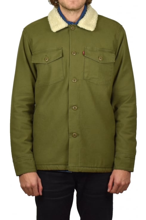 Levi's Military Sherpa Shacket (Olive Night)
