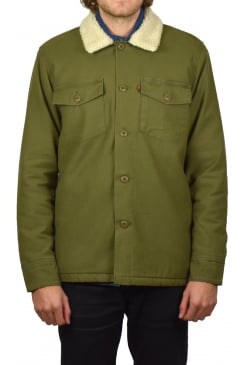 Military Sherpa Shacket (Olive Night)