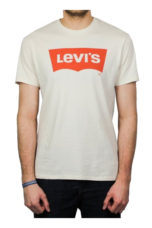 Levi's Orange Tab Housemark Short-Sleeved T-Shirt (Chalky White)