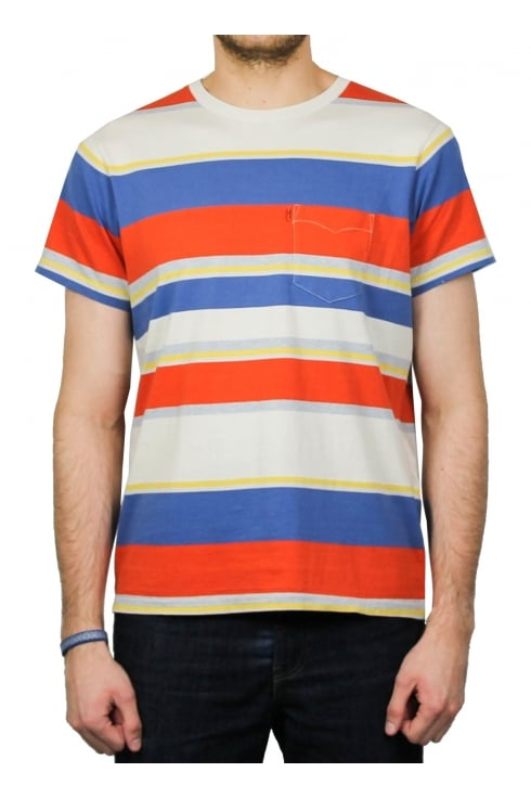 Levi's Orange Tab Short-Sleeved Pocket T-Shirt (Marshmallow/Recycled Denim/Dutch Blue/Tigerlily)