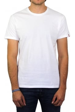 Slim 2-Pack Short-Sleeved T-Shirt (White)