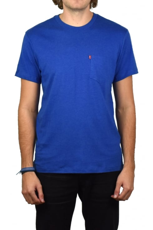 Levi's Sunset Pocket Short-Sleeved T-Shirt (True Blue Heath)