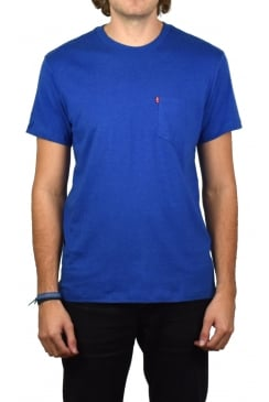 Sunset Pocket Short-Sleeved T-Shirt (True Blue Heath)
