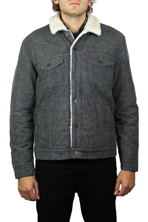Levi's Type 3 Sherpa Trucker Jacket (Biffy Grey Carbon)