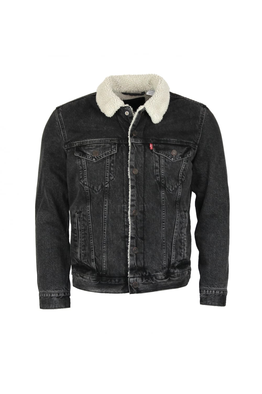 Levi S Type 3 Sherpa Trucker Jacket Brusted Thirtysix