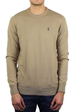 Gerards Fine Knit Crew Neck Jumper (Lux Sand)