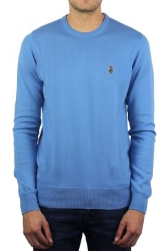 Gerards Fine Knit Crew Neck Jumper (Lux Sky)