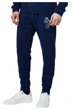 Hensons Slim Fit Jogging Bottoms (Marl Lux Petrol)