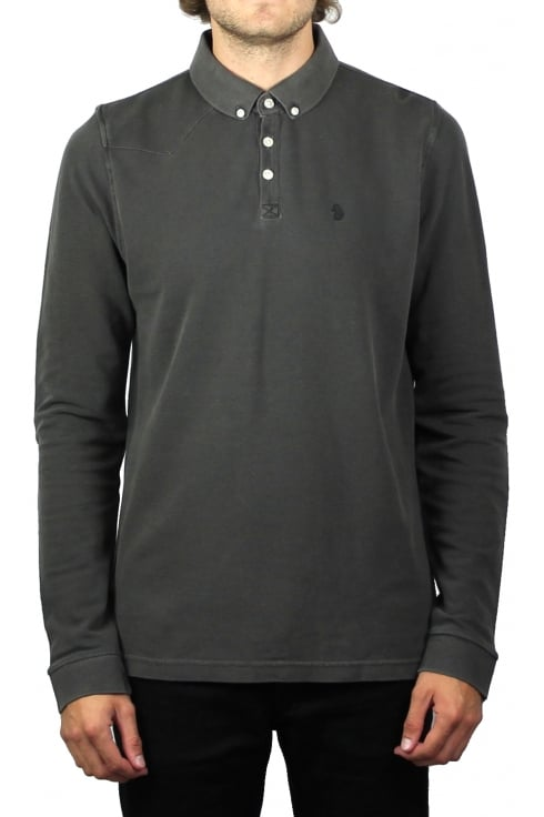 Luke 1977 Long Basking Long-Sleeved Polo Shirt (Charcoal)