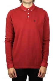Long Basking Long-Sleeved Polo Shirt (Cherry)